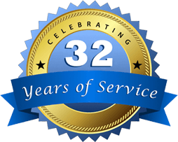 32 years of service